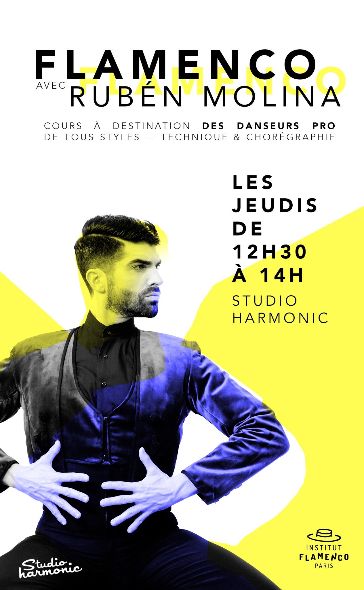 institut flamenco paris cours ruben molina studi harmonic