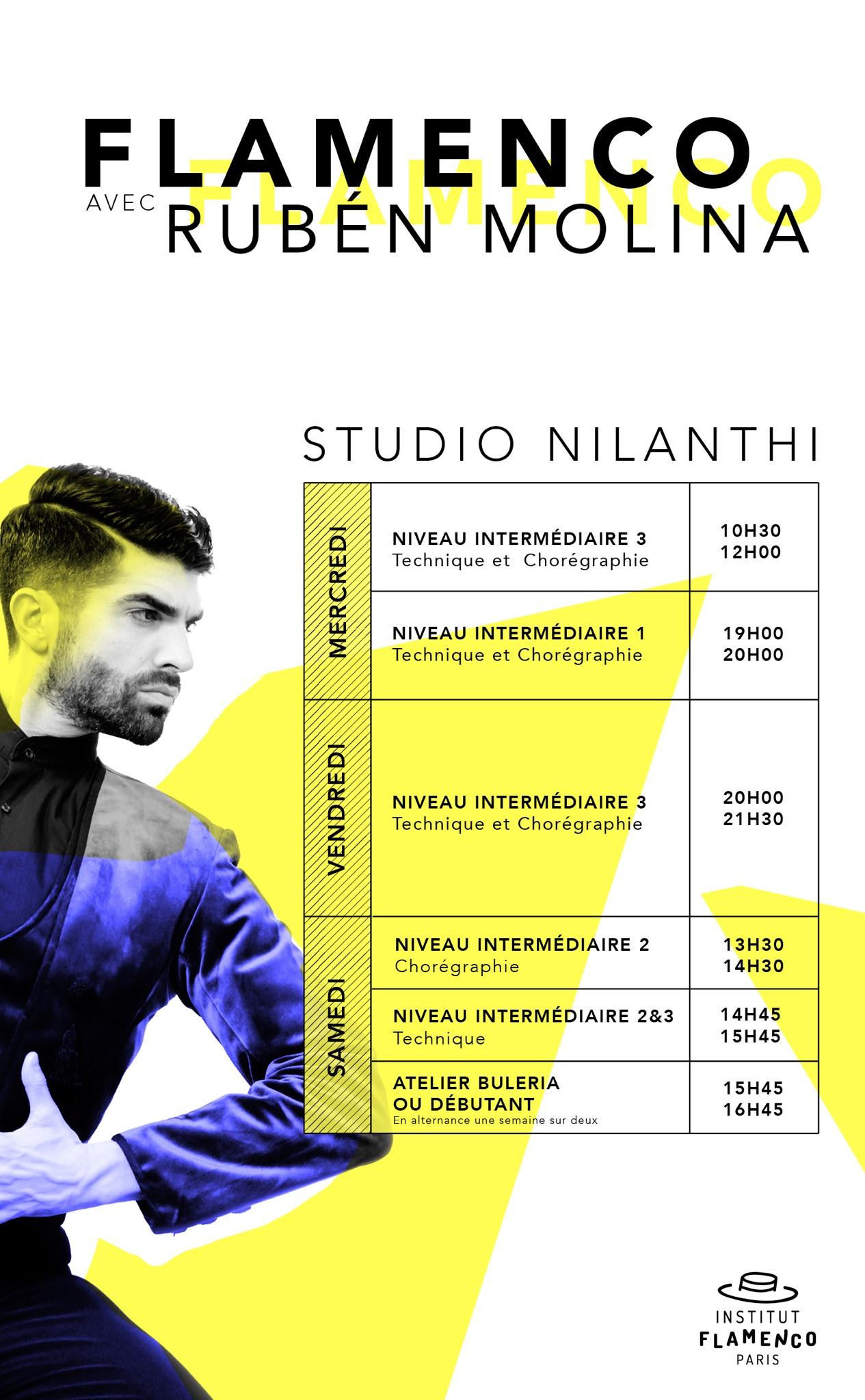 institut flamenco paris cours flamenco ruben molina studio harmonic nilanthi