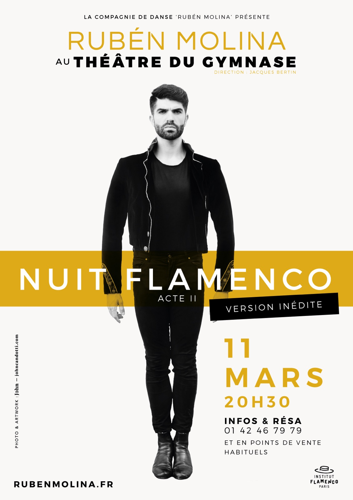SPECTACLE FLAMENCO PARIS RUBEN MOLINA NUIT FLAMENCO ACTE II